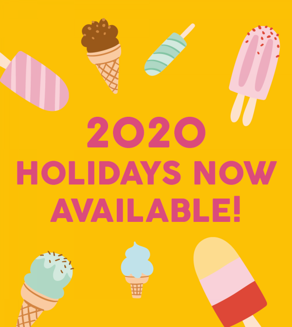 2020 Holidays now available!